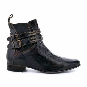 Bed Stu | Black Ravine Ankle Harness Chelsea Boots
